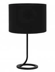 Lámpara de mesa negra circular Light & Living Mavey-9372ZW