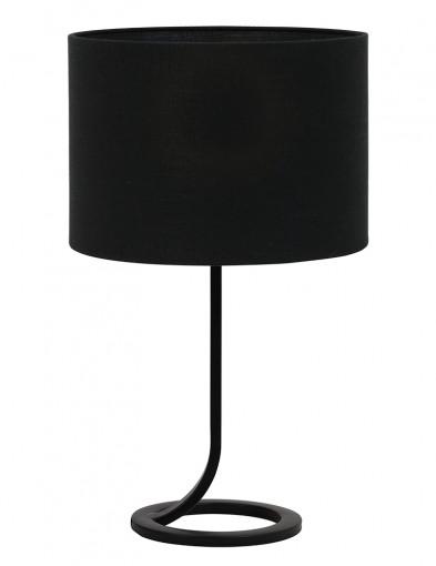 Lámpara de mesa negra circular Light & Living Mavey-9372ZW