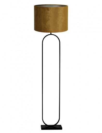 Lámpara de pie ovalada con pantalla dorada Light & Living Jamiri-9378ZW