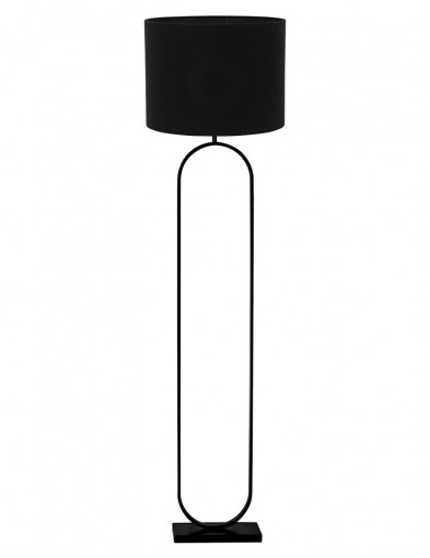 Lámpara de pie ovalada con pantalla negra Light & Living Jamiri-9379ZW