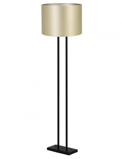 Lámpara de pie dorada Light & Living Shiva negro-9393ZW