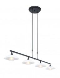 Lámpara de comedor negra 4 luces Steinhauer Tallerken