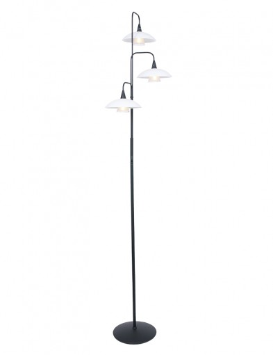 Lámpara de pie con campanas de vidrio Steinhauer Tallerken