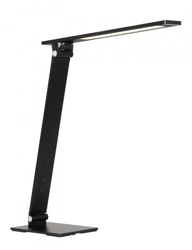 Lámpara de escritorio negra Steinhauer Serenade LED