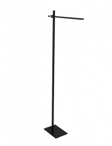 Lámpara de pie LED negra Mexlite Stekk