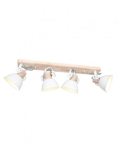Foco de techo de cuatro luces Mexlite Gearwood blanco