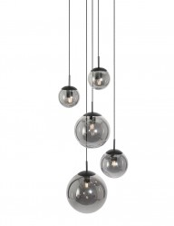 Lámpara de colgante de vidrio ahumado Steinhauer Bollique