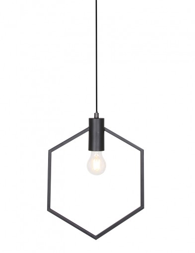 Lámpara colgante hexagonal negro Light & Living Aina