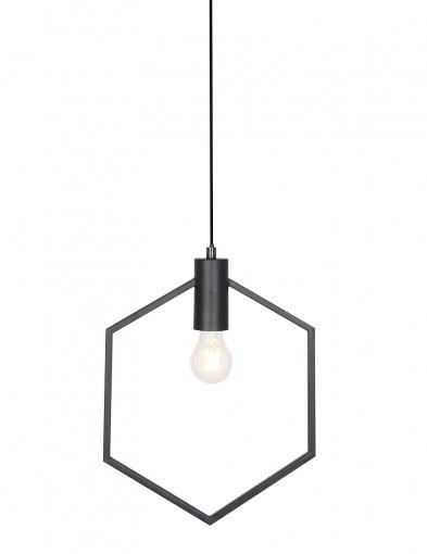 Lámpara colgante hexagonal negro Light & Living Aina