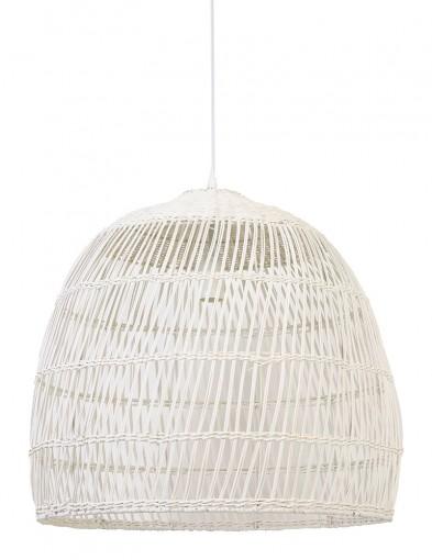 Lámparablanca grande de ratán Light & Living Evelie