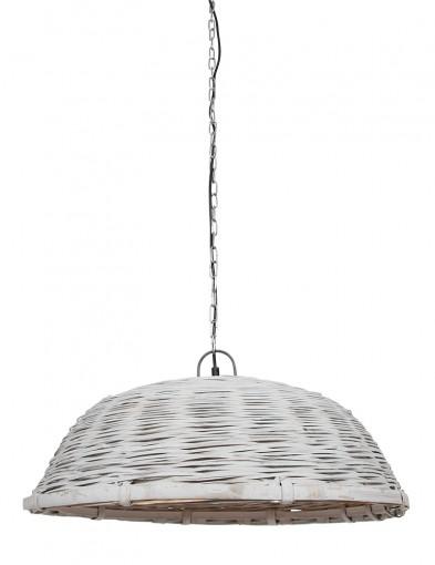 Lámpara de mimbre de techo gris Light & Living Jaelynn