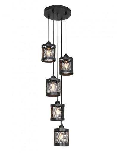 Lámpara de jaula cinco luces Light & Living Laetitia