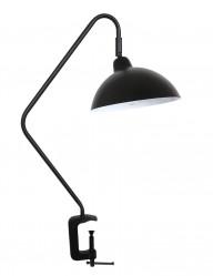Lámpara de mesa con pinza negra Light & Living Orion