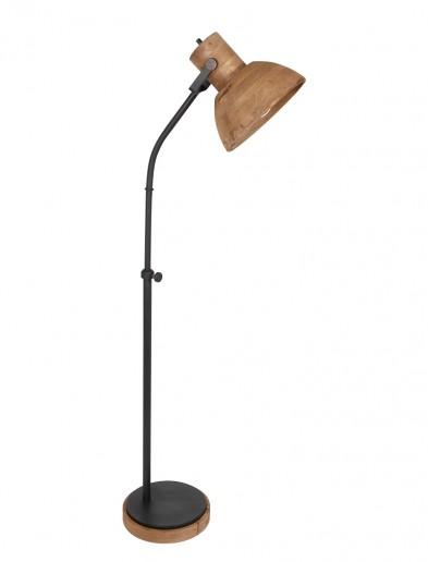 Lámpara de pie con pantalla de madera Light & Living Imbert