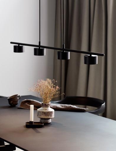 Lámpara de comedor LED negra Nordlux Clyde