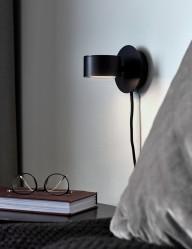 Aplique negro LED Nordlux Clyde