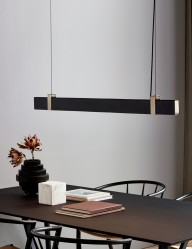Lámpara de techo LED de metal Nordlux Lilt negro