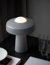 Lámpara de mesa gris minimalista Nordlux Time