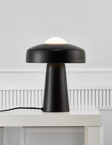 Lámpara de mesa negra Nordlux Time