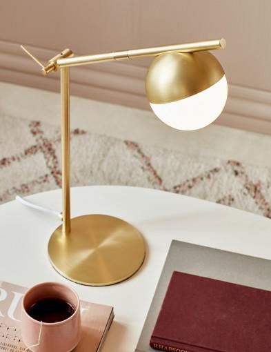 Lámpara de escritorio dorada Nordlux Contina