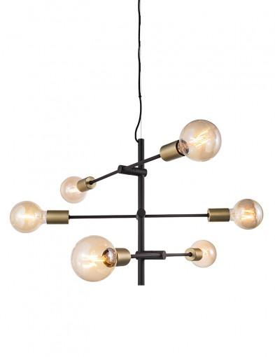 Lámpara colgante negra seis luces Nordlux Josefine