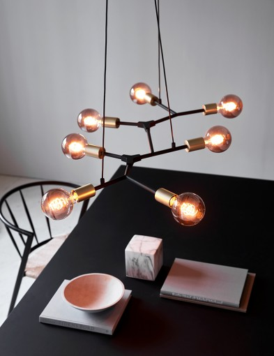 Lámpara colgante molécula de siete luces Nordlux Josefine
