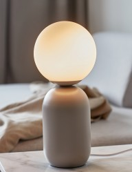 Lámpara jarrón gris con esfera Nordlux Notti