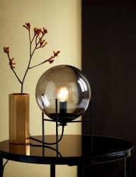 Lámpara de sobremesa vidrio ahumado Nordlux Alton