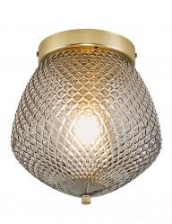 Plafón de vidrio dorado Nordlux Orbiform
