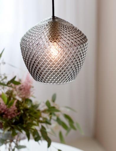 Lámpara de vidrio ahumado tallado Nordlux Orbiform