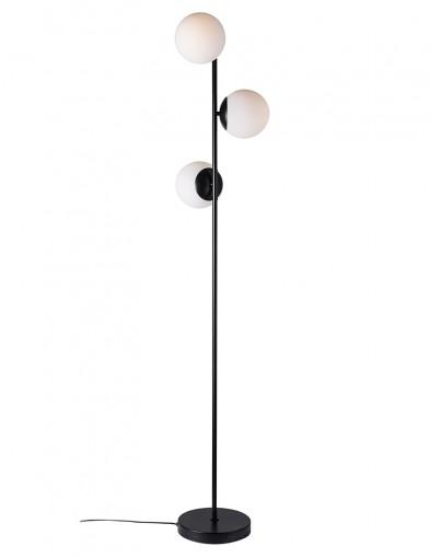 Lámpara de pie negra de tres esferas Nordlux Lilly