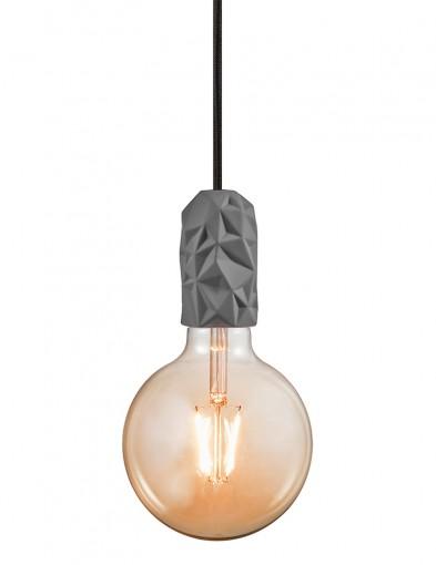 Lámpara colgante de cerámica gris Nordlux Hang