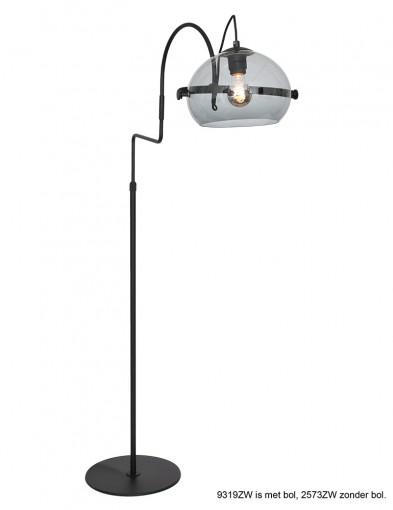 Lámpara de pie negra retro Anne Lighting Holgarsøn