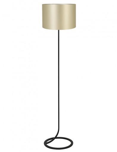 Lámpara de pie negra y dorada Light & Living Mavey