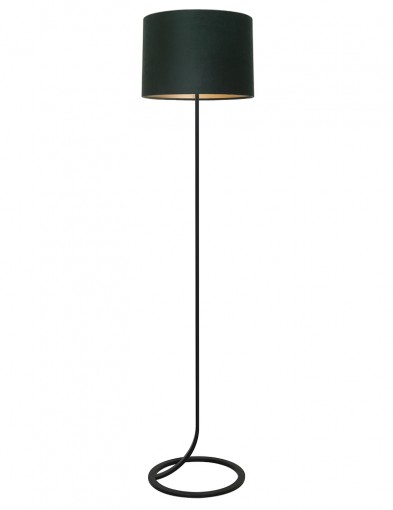 Lámpara de pie con pantalla verde Light & Living Mavey