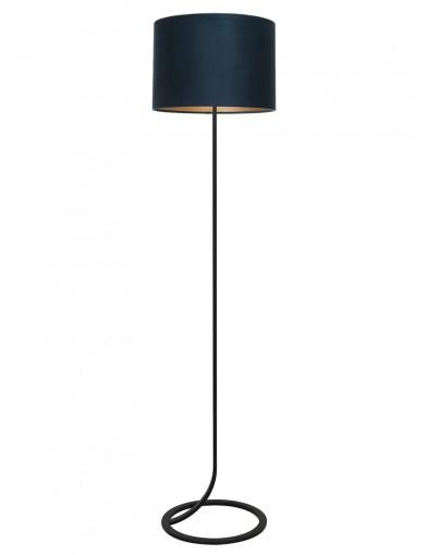 Lámpara de pie con pantalla azul Light & Living Mavey