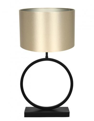 Lámpara con base redonda y pantalla dorada Light & Living Liva