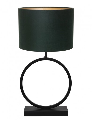 Lámpara con base circular y pantalla verde Light & Living Liva