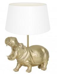 Lámpara hipopótamo con pantalla blanca Light & Living Hippo