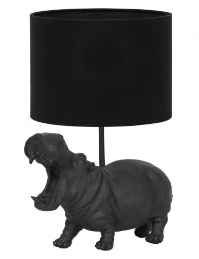 Lámpara hipopótamo con pantalla negra Light & Living Hippo