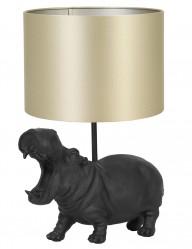Lámpara hipopótamo con pantalla dorada Light & Living Hippo