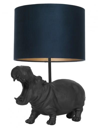 Lámpara hipopótamo con pantalla azul Light & Living Hippo