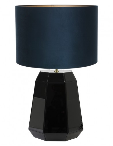 Lámpara negra de pantalla azul Light & Living Hector
