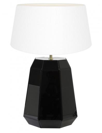 Lámpara negra de pantalla blanca Light & Living Hector