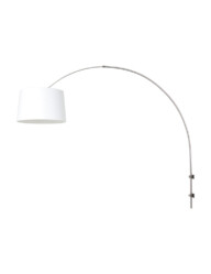 Aplique arco de acero con pantalla blanca Steinhauer Sparkled Light - 8197ST