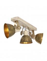 Plafón de tres focos bronce Mexlite Gearwood-2133BR