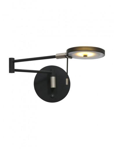 Aplique negro LED Steinhauer Turound-2734ZW