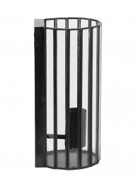 Aplique de pared negro de jaula Light & Living Stroby-2823ZW