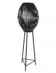Lámpara de pie negra moderna Light & Living Kyomi-2833ZW