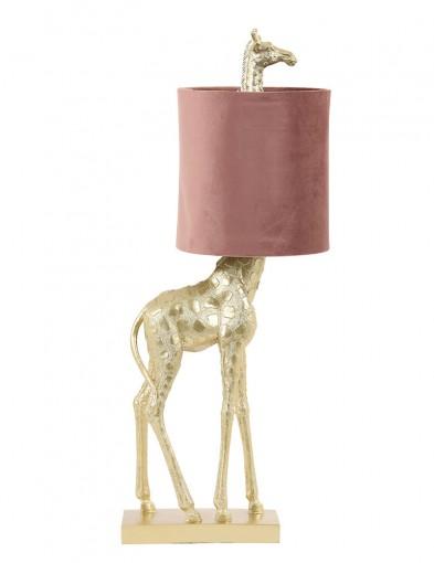 Lámpara jirafa con pantalla rosa Light & Living Giraffe-2923GO